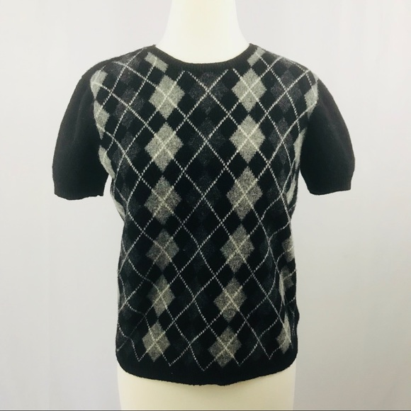 ec3d1201374 Ralph Lauren Lambswool women s sweater argyle L. M 5b64e29ce944ba9b0bb154f6